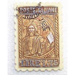 Magnete francobollo Sicilia cm 7x5 in resina