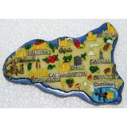 Souvenir Magnete Sicilia in resina cm 8x5