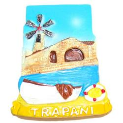 Magnete Mulino Trapani in resina cm 7x5