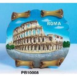 Magnete Pergamena Colosseo cm 7.5x7 in resina