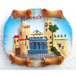 Magnete pergamena Monreale cm 5.5x6.5 in resina