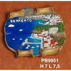 Magnete Pergamena di Sorrento cm 7x7.5 in resina