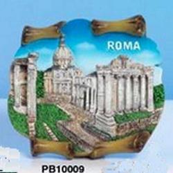 Magnete Pergamena Foro Roma cm 7.5x7 in resina
