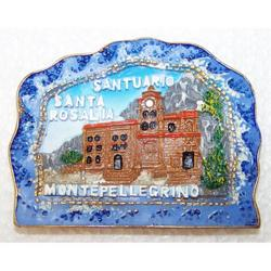 Magnete Santuario Santa Rosalia in resina cm 7x5