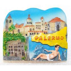Magnete Souvenir Palermo in resina cm 6.5x5.5
