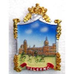 Magnete di Palermo a forma di specchio cm 8x5 in resina