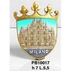 Magnete Stemma Duomo di Milano cm 7 in resina