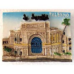 Teatro Politeama di Palermo in resina e magnete cm 7x5