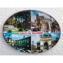 Magnete ovale monumenti di Palermo cm 7x5 in vetro