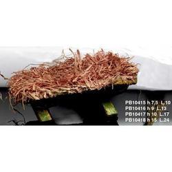 Mangiatoia in legno e paglia da cm 24x15