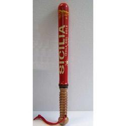Mazza da Baseball in legno con scritta Sicilia cm 45