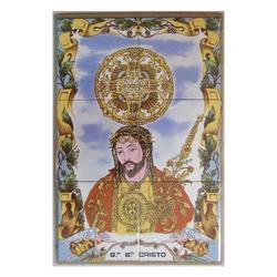 Mosaico Gesu Cristo 6 piastrelle ceramica