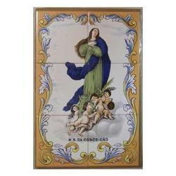 Mosaico Madonna Assunta 6 piastrelle ceramica