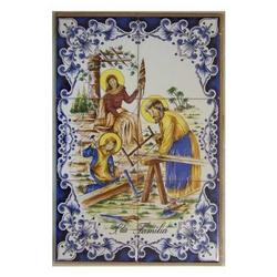 Mosaico Sacra Famiglia 6 piastrelle ceramica