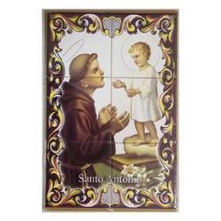 Mosaico San Antonio di Padova 6 piastrelle ceramica