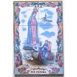 Mosaico Fatima con Angeli da 6 piastrelle in ceramica cm 45x30