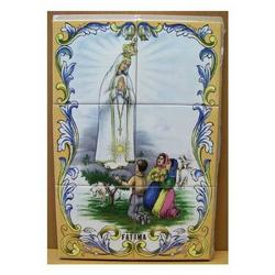 Mosaico Fatima con pastorelli 6 piastrelle ceramica