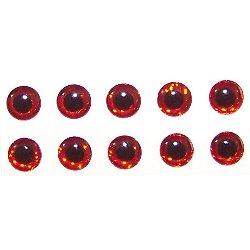 Occhi di Pesce mm 3 - Set da 10 pezzi rossi