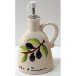 Oliera con decoro Olive in ceramica cm 20x6