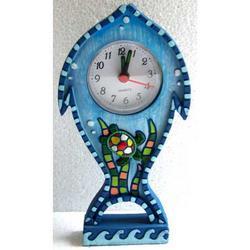Orologio a forma di pesce con tartaruga in resina cm 16x6x2.5