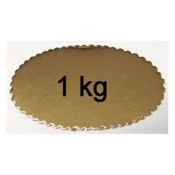 Confezione da 1 Kg Ovale cm 20.5 in cartone dorato