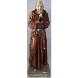 Statua Padre Pio da Pietralcina in gesso cm 57 mani giunte