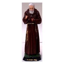 Statuetta Padre Pio benedicente cm 15,5 in resina