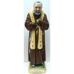 Padre Pio da Pietralcina cm 52 in gesso