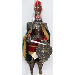 Paladino Carlo Magno in ottone cm 25