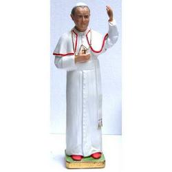 Statua Papa Wojtila Giovanni Paolo II cm 32 in gesso
