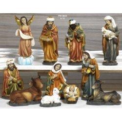 Presepe in resina da 15 cm con 11 personaggi