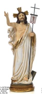Statua Cristo Risorto cm 22.2 in resina