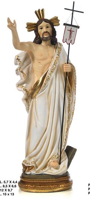 Statua Cristo Risorto cm 31 in resina
