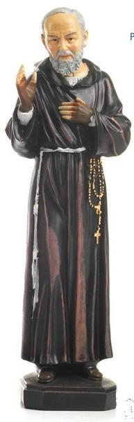 Statua Padre Pio benedicente cm 12 in resina