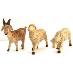 Set 3 Pecore per presepe cm 7 in terracotta