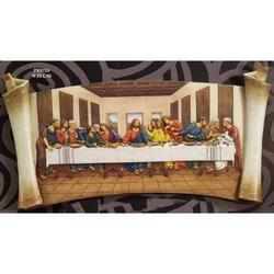 Pergamena Ultima Cena in resina cm 23x50