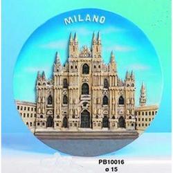 Piatto Duomo di Milano cm 15 in resina