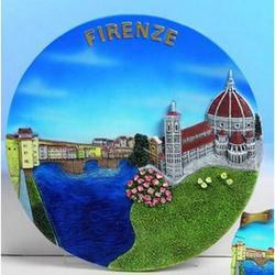 Piatto Veduta di Firenze cm 19 in resina