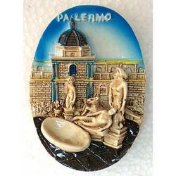 Piazza della Vergogna Palermo in resina e magnete cm 7x5