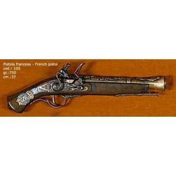 Riproduzione antico modello di pistola francese cm 37 art. 105