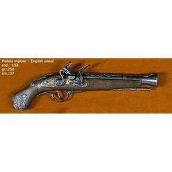 Riproduzione antico modello di pistola inglese cm 37 art. 102