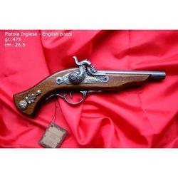 Riproduzione antico modello di pistola inglese cm 27 art. 143