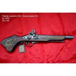 Riproduzione antico modello di pistola svizzera cm 40 art. 166E