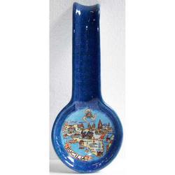 Poggiamestolo Mappa Sicilia in ceramica cm 27.5x11.5