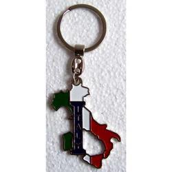 Portachiave souvenir Italia Tricolore in metallo cm 5.5x3.5