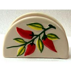 Portatovaglioli con Peperoncino in ceramica cm 13x4