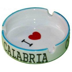 Posacenere I Love Calabria in ceramica cm 8