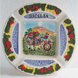 Posacenere Carretto Siciliano in ceramica cm 12