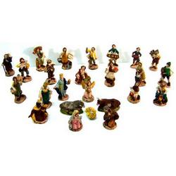 Presepe 25 personaggi in terracotta cm 6
