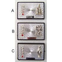 Quadretto barometro e bassorilievo cm 6x4 con magnete
